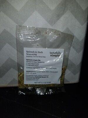 Herb Dip - Tastefully Simple Spinach and Herb Dip Mix SINGLE SAMPLE