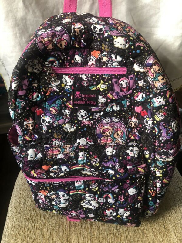 Tokidoki Hello Kitty Collaboration Cosmic Multicolored Pink Backpack