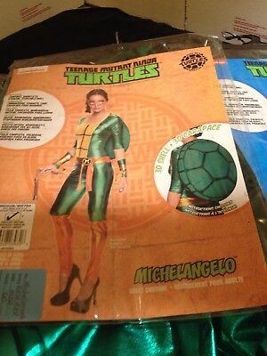 TMNT Womens MICHELANGELO Jumpsuit Costume~LARGE~NEW~Teenage Mutant Ninja Turtle - Womens Teenage Mutant Ninja Turtle Costume