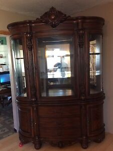 China Cabinet or Mahagany Dinning Table and Chairs