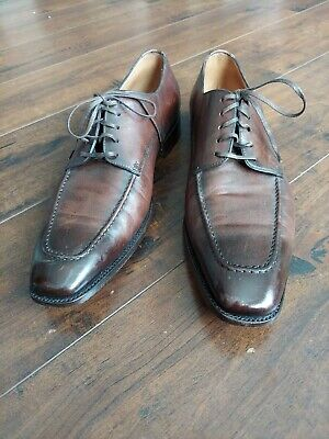 Silvano Sassetti Brown Leather Dress Shoes Made in Italy Men's US Size 10