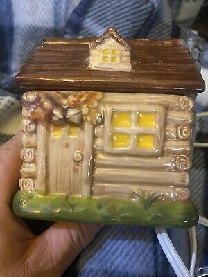 Yankee Candle Christmas Tart Burner Wax Warmer LOG CABIN Offered in 2012