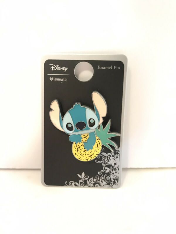 Loungefly Disney Lilo & Stitch Pineapple Nom Collectible Enamel Pin NEW