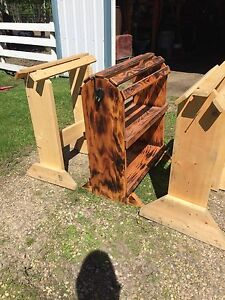 Wooden saddle stands