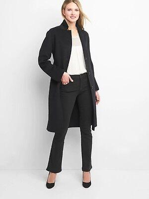 - NWT Gap Classic wool coat, true black  SIZE ST S T       $228.0   #836479 v01118