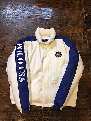 VTG Ralph Lauren Polo USA Suicide Circle P Wing Ski Jacket 1992 Men's XL