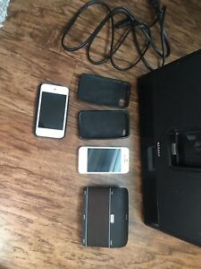iPhone 4s, sound dock, iPod touch and Bluetooth speaker