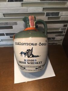 Tullamore Dew Irish Whiskey Jug Vintage Crock Pottery  Stoneware