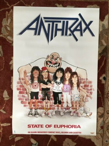 ANTHRAX  State Of Euphoria  rare original promotional poster from 1988