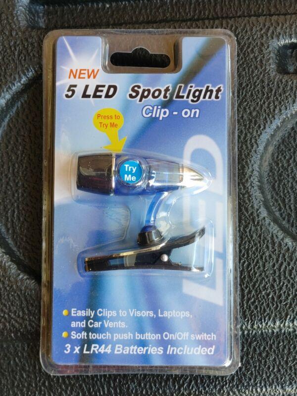 Mini LED Clip on Book / Hat / Laptop Light - Flexible Portable Travel -