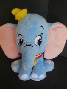 doudou peluche dumbo l 39 l phant bleu b b disney nicotoy 16cm. Black Bedroom Furniture Sets. Home Design Ideas