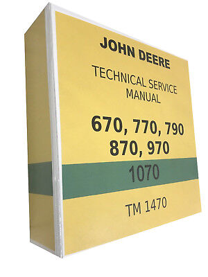 870 John Deere Technical Service Shop Repair Manual Huge