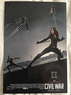 Captain America Civil War Poster EXCLUSIVE AMC IMAX 9.5x13