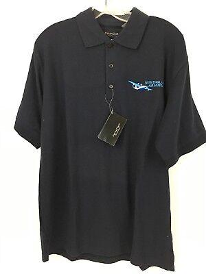ULTRA CLUB WHISPER PIQUE Blue Polo Shirt Mens Size M  New England Museum Adult Whisper Pique Polo