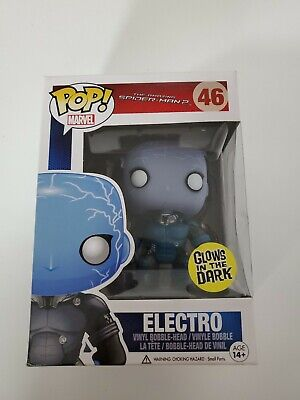 Funko Pop! Marvel - The Amazing Spider-Man 2 - Electro [GITD] #46 (VAULTED RARE)