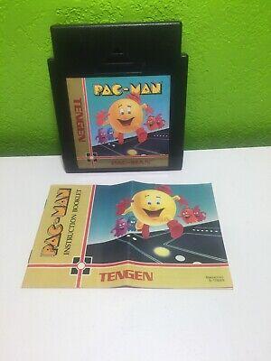 PAC-MAN BLACK PACMAN ORIGINAL NINTENDO AUTHENTIC GAME NES (TENGEN) With Manual.