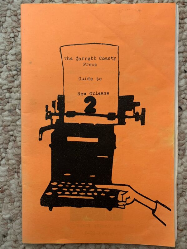 The Garrett County Press Guide To New Orleans Volume 2 Very Rare OOP
