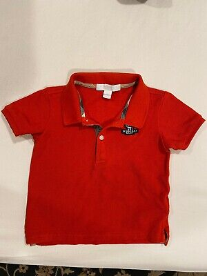 Burberry Baby Boy Red Polo Shirt 12-18 Months