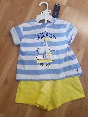 Girls Nautica t shirt and shorts set size 4T
