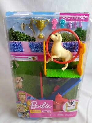 Barbie by Mattel Career-Dog Trainer Playset with Accessories, GJM34