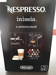 Nespresso Inissia Coffee Machine with Milk Frother - Black Chatswood Willoughby Area Preview