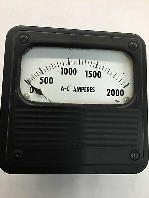 2000 Amp Ac Panel Meter Steam Punk Tbs 0-2000a Vintage Retro Ka-251