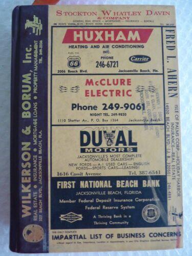 pHONE BOOK POLK'S 1969 JACKSONVILLE BEACHES DUVAL CO FLORIDA DIRECTORY neocurio
