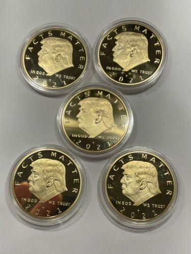 US Seller ** Qty five- 5 FACTS MATTER !! Donald Trump Golden Joe Biden Slam Coin
