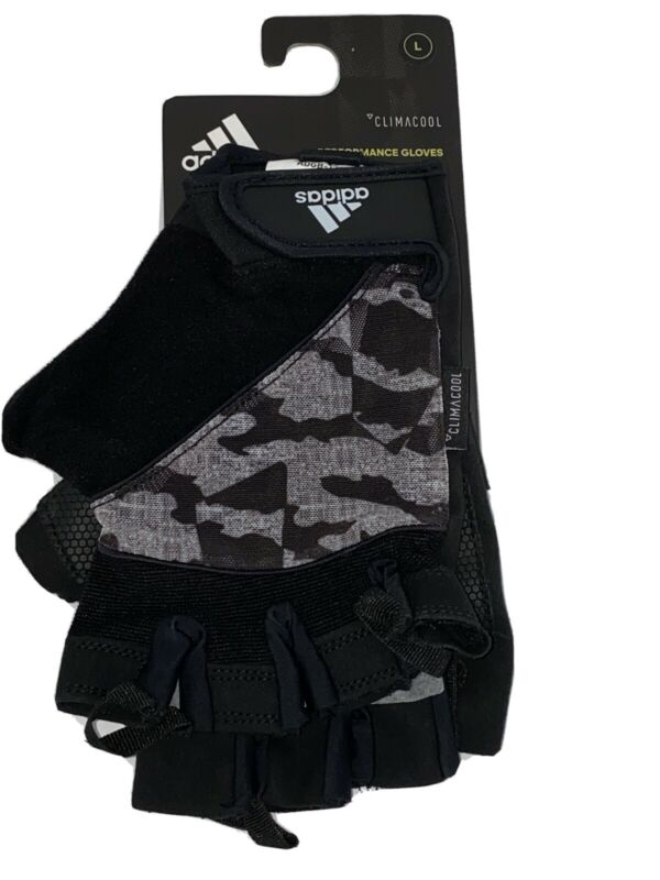Adidas Climacool Performance Gloves Size Large Black w Grey