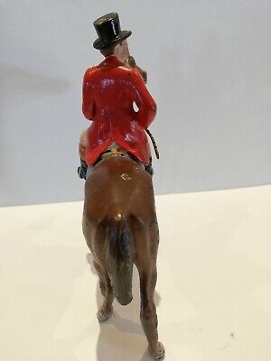Large Austrian Vienna Cold Painted Bronze of Huntsman and Horse - Rare Antique.
