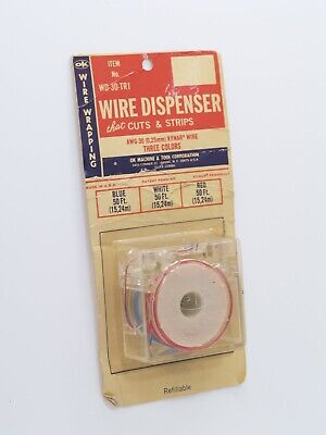 Ok Industries Wire Wrapping Wire Wd 30 Tr1 With Dispenser Blue White Green