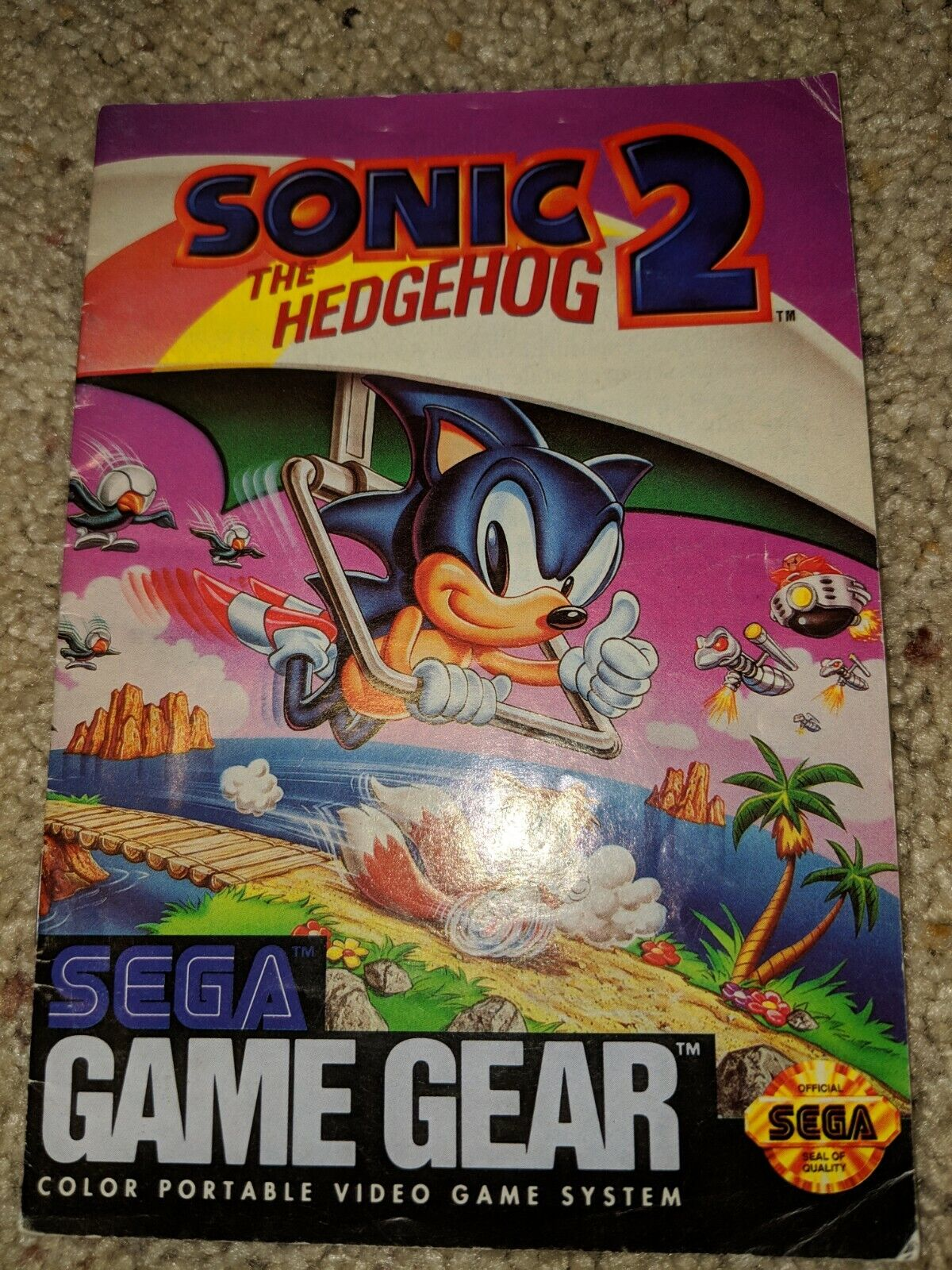 Sega Game Gear Sonic The Hedgehog 2 Video Game Manual - $0.99