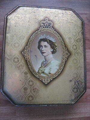 Queen Elizabeth II Coronation - Macfarlane Lang commemorative biscuit tin