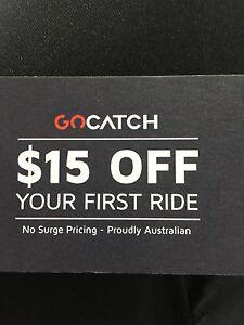 Get $15 worth rides Gocatch same as Uber but cheaper. Parramatta Parramatta Area Preview