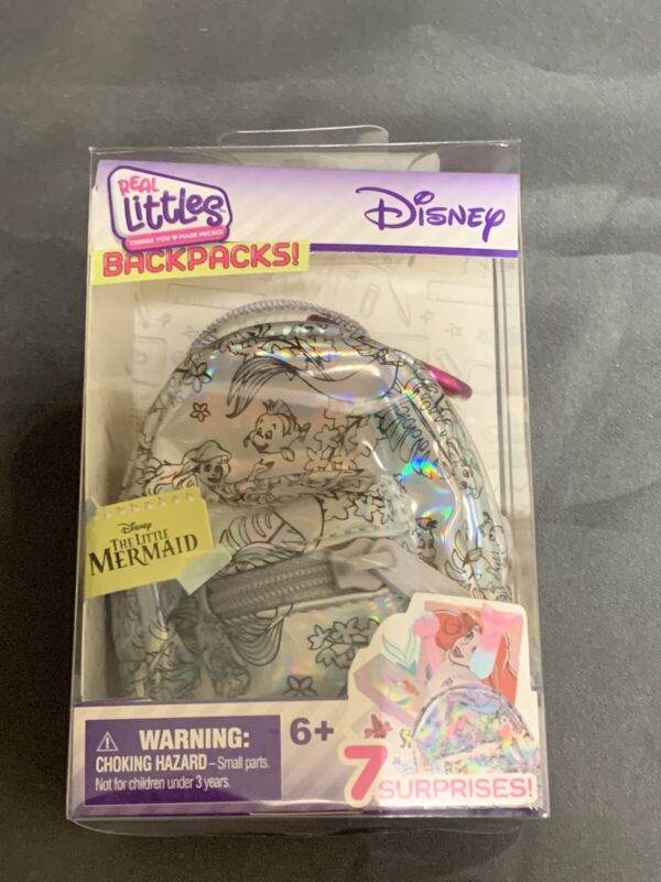 DISNEY REAL LITTLES THE LITTLE MERMAID MINI BACKPACK WITH 7 SURPRISES NEW