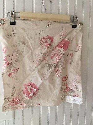 """Rachel Ashwell Shabby Chic Truly Bloom Bone Fabric Sample Linen Rose Floral 16"""" for sale  Mobile"""