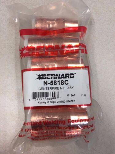 "BERNARD N-5818C Nozzle 5/8"" BTB Platform MIG Guns Copper Centerfire OEM 2PK"