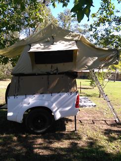 Roof top tent plus trailer