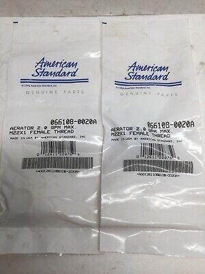 American Standard 066108-0020A Faucet Aerator 2.0 GPM M22X1 Female Thread 2PK
