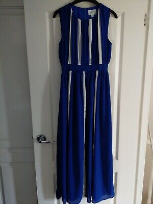 Jovonna London Blue Maxi Dress Size 8