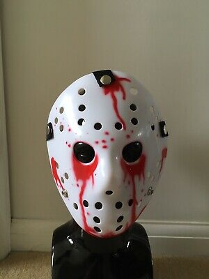 EXTREME FITNESS HOCKEY MASK HALLOWEEN MASK SKULL CRUSHED WITH HOCKEY PUCK BOYS