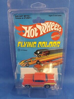 Hot Wheels 57' Chevy On Flying Colors Card HK Base
