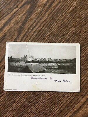 Manistique, Mich,  From Dock, Looking North  Postcard, Posted 1906