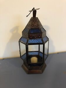 Hanging lantern with candle