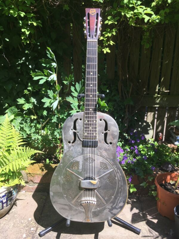 Left Handed National Replicon Style O Resonator Acoustic Guitar