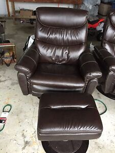 Brown recliner and ottoman  X 2