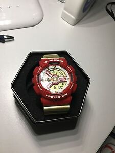 Gold/Red G-Shock Watch Gowrie Tuggeranong Preview