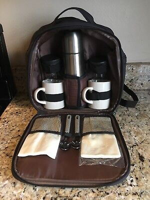 Gevalia Backpack Coffee Tea Stainless Thermos Mugs Travel Set, used for sale  Shipping to India