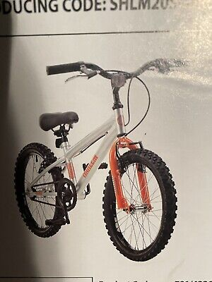 "Boys/girls 20"" Wheel Bike Silver And Orange"
