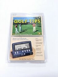 Seiko Golf Tips Daily Insight Smart Calendar Alarm Clock Golfers Digest Gift SII